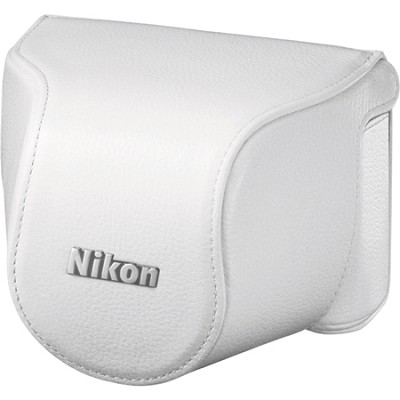 CB-N2000SB White Leather Body Case Set for Nikon 1 J1