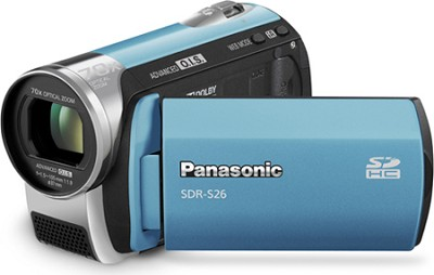 SDR-S26A - SD memory card Camcorder with 70x Zoom & OIS (Blue)