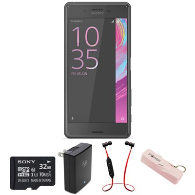 Xperia X Performance 32GB 5-inch Smartphone Unlocked - Black w/ Headphone Bundle
