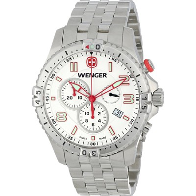 Men's Squadron Chrono Watch - White Dial/Stainless Steel Bracelet