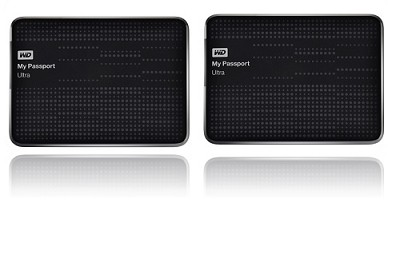 2-Pack My Passport Ultra 1 TB USB 3.0 Portable Hard Drive { Black}