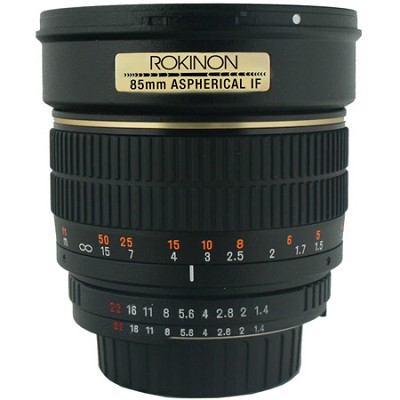 85mm f/1.4 Aspherical Lens for Canon DSLR Cameras