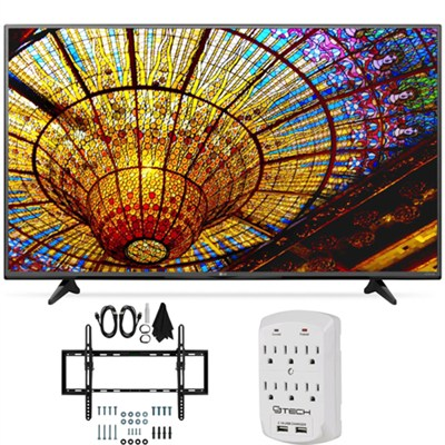 55UF6450 - 55-Inch 4K Ultra HD Smart LED 120Hz TV Flat + Tilt Wall Mount Bundle