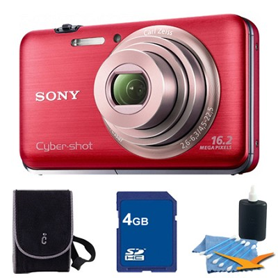 Cyber-shot DSC-WX9 Red Digital Camera 4GB Bundle