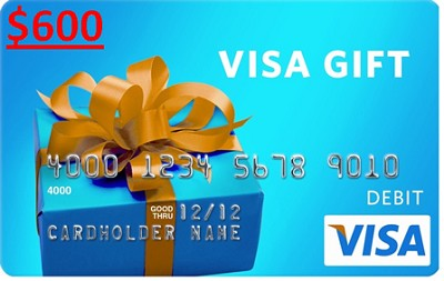 $600 Gift Card (Allow 3-6 weeks for delivery)
