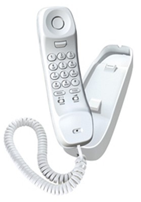 Slimline Corded Phone - White (1100)