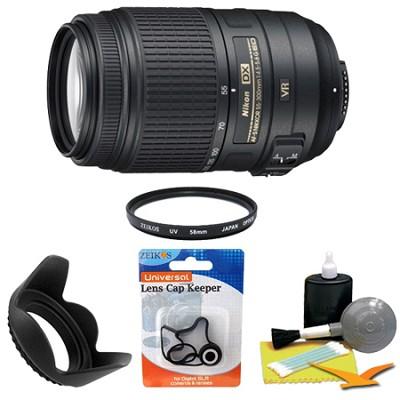 AF-S DX NIKKOR 55-300mm f/4.5-5.6G ED VR Lens 2197 for Nikon Digital SLR Bundle