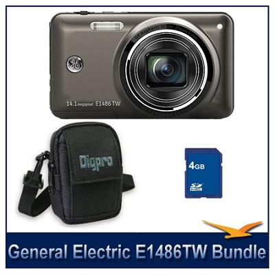 E1486TW Power Series Touchscreen Black Camera 4GB & Case Bundle