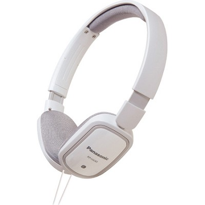 RP-HXC40-W Light Weight On Ear Heaphones with iPhone Controller (White)