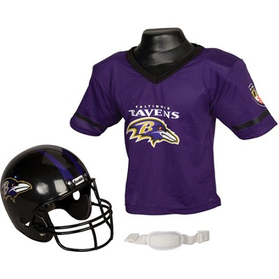 Youth NFL Baltimore Ravens Helmet and Jersey Set