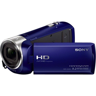 HDR-CX240/L Entry Level Full HD 60p Camcorder - Blue - OPEN BOX