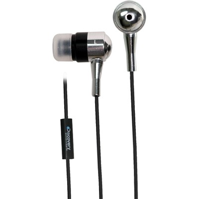 Discovery DX Metal Inline Mic Earphones - Silver