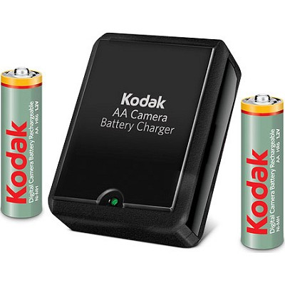 Compact Battery Charger with two AA 2100mAh Rechargeable Batteries