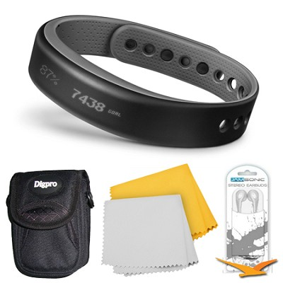 vivosmart Bluetooth Fitness Band Activity Tracker - Small - Slate Bundle