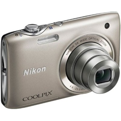 COOLPIX S3100 14MP 5x Zoom Silver Compact Digital Camera (Certified Refurbished)