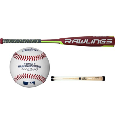 27`/15oz Velo SL7V12 Big Barrel Baseball Bat (-12) + Ball and Sleeve
