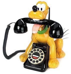 Novelty `Pluto` Animated Talking Telephone {024717}
