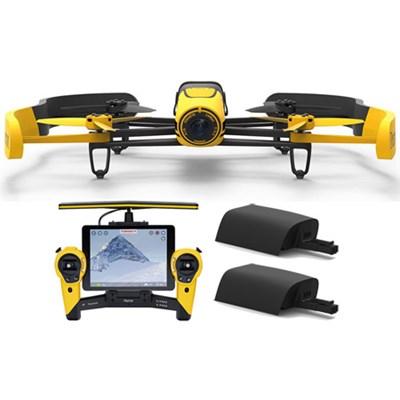 BeBop Drone 14MP 1080p Fisheye Camera w/ Skycontroller +  2nd Battery (Yellow)