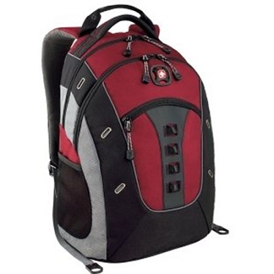 SwissGear Granite Deluxe Laptop Backpack (Red/Black)