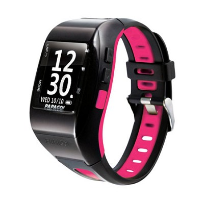 GPS Multi Sport Watch with GoHeart 100 ANT+ Heart Rate Monitor (Pink) - GLWPN-HB