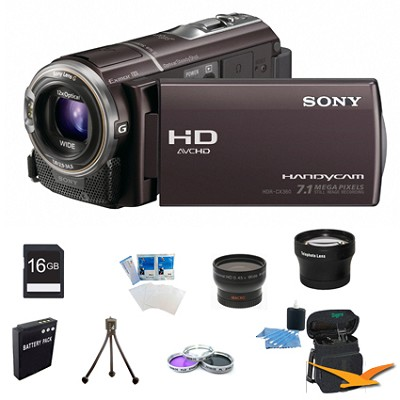 HDR-CX360V 32GB Flash Memory  Handycam Full HD Camcorder Ultimate Bundle