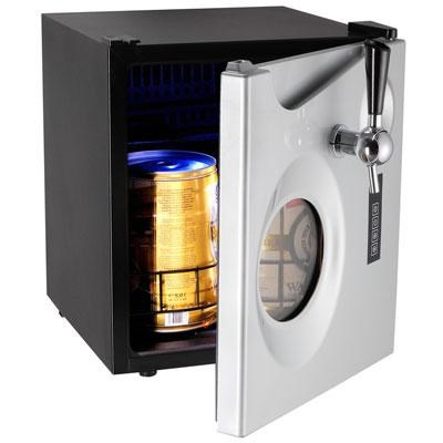 1.7-Cubic Foot Beer Dispenser in Black and Platinum - CB350S-IS