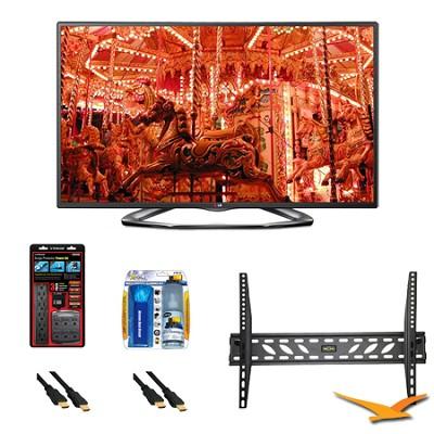 42LA6200 42` 1080p 3D Smart TV 120Hz Dual Core 3D Direct LED Mount Bundle