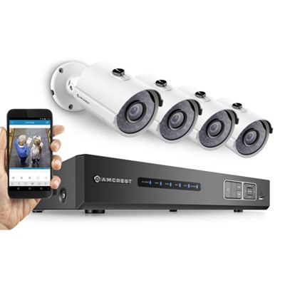 ProHD 720P 4CH Video Security System w/ Night Vision Cameras, HDD - White