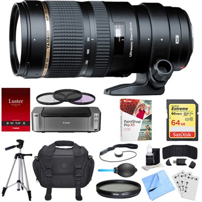 SP 70-200mm F/2.8 DI VC USD Telephoto Zoom Lens Nikon Dual Mail in Rebate Bundle