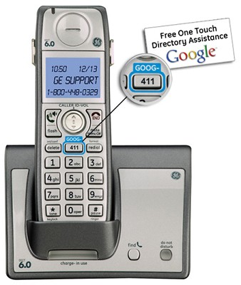 Dect 6.0 Advanced Cordless Phone with Google Free Directory Assistance