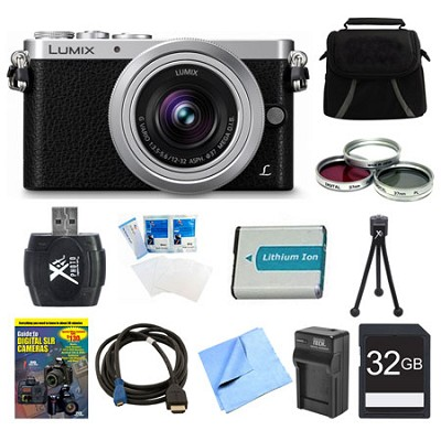 LUMIX DMC-GM1 DSLM Black Camera with 12-32mm Lens 32GB Bundle