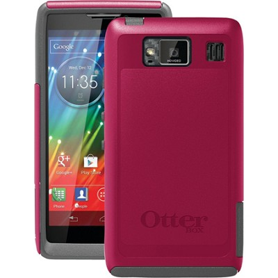 Commuter Series Case for Motorola RAZR HD - Retail Packaging - Thermal Pink/Gray