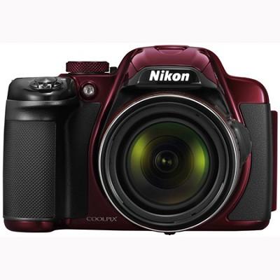COOLPIX P520 18.1 MP 42x Zoom Digital Camera - Red