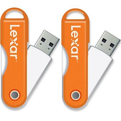JumpDrive TwistTurn 16GB High Speed USB Flash Drive (Orange) 2-Pack (32GB Total)