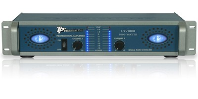Pro Amplifier 3000 Watts (Blue/Silver)