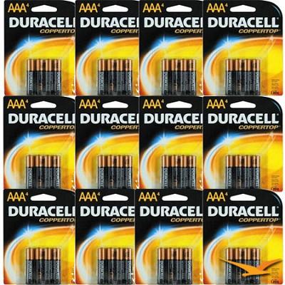 AAA Alkaline Batteries 4 Pack Retail Package - 12 Packs - 48 Batteries Total