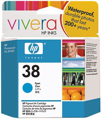 #38 Cyan Pigment Ink Cartridge with Vivera Inks