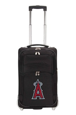 MLB 21-Inch Carry On Luggage, Black - Los Angeles Angels