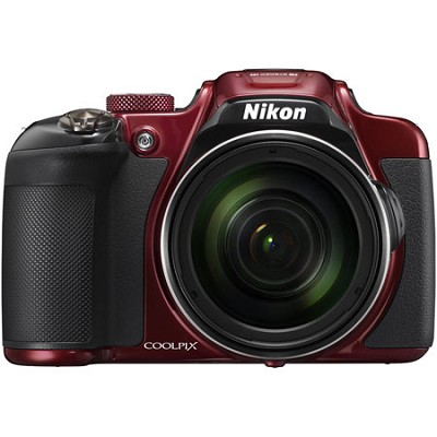 COOLPIX P610 16MP 60x Super Zoom Digital Camera Full HD Video, WiFi, GPS - Red