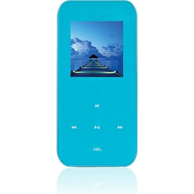 4 GB MP3 Video Player with 1.5` LCD, FM Radio, Recorder (Teal)