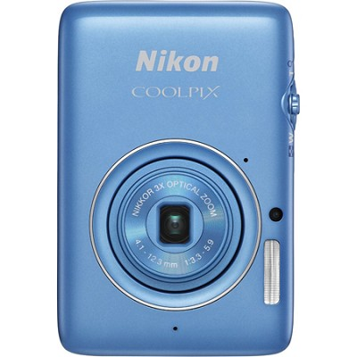 COOLPIX S02 13.2MP 3x Opt Zoom 2.7` LCD Blue Digital Camera