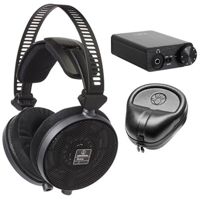 R70X Professional Open-Back Reference Black Headphones w/ Bundle