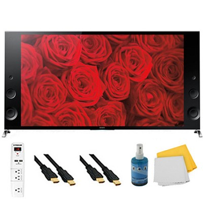 65` 120Hz 3D LED X900B Premium 4K Ultra HD TV Plus Hook-Up Bundle - XBR65X900B
