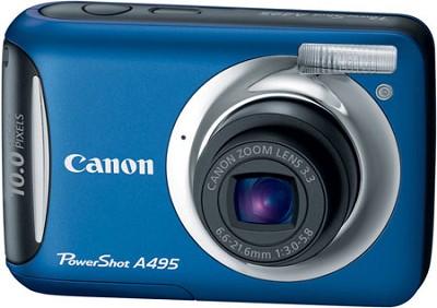 PowerShot A495 10 Mega Pixel with 3.3x Optical Zoom Digital Camera (Blue)