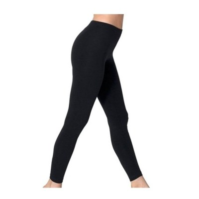 Black Opaque Footless Soft & Warm Fleece-Lined Leggings - 1 Pair