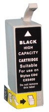 Ink Cartridge (Black High Capacity) for Epson Stylus C86 / CX6400 / CX6600