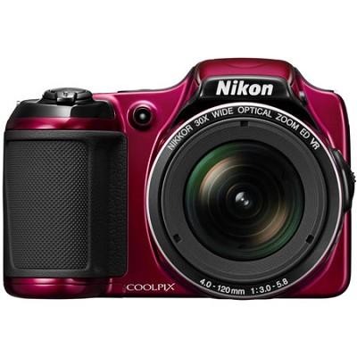 COOLPIX L820 16 MP 30x Zoom Red Digital Camera - Factory Refurbished