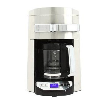14 Cup 24 Hour Programmable Front Access Stainless Steel Drip Coffee Maker USED