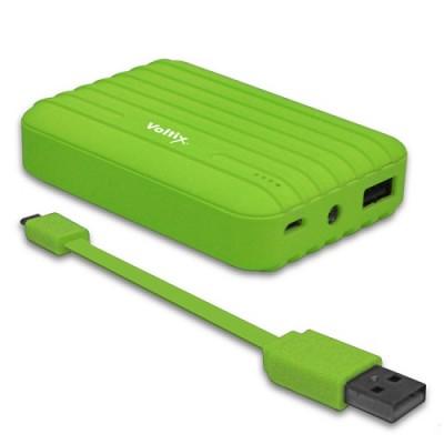 8,500mAh Rubberized Portable Power Battery Bank in Green