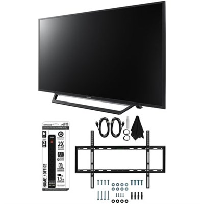 KDL-55W650D 55-Inch Full HD 1080p TV with Built-in Wi-Fi Flat Wall Mount Bundle